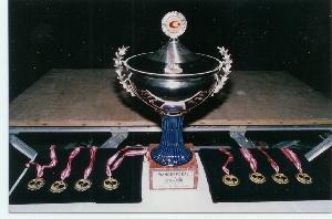 Badener AC Tischtennis holt sich 1991 den Intercup Pokal