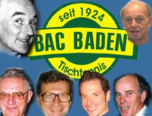 Obmänner des Badener AC Tischtennis