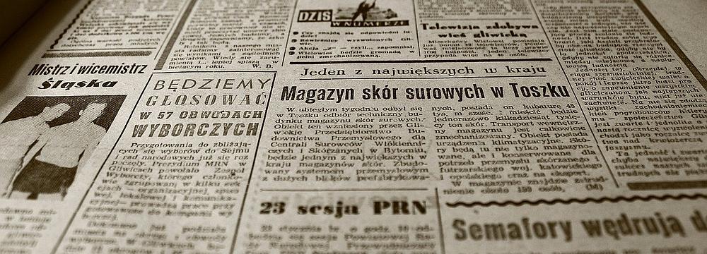 Chronik Foto einer alten Zeitung